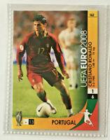 Euro 2008 Cristiano Ronaldo Portugal Trading Card Panini Rare Mint / Neu #162