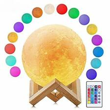 16 Colors Dimmable LED Change by Touch & Remote Control USB Charging Moon Lamp