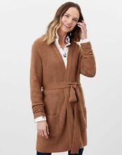 Joules Womens Alba Knitted Cardigan With Belt - Brown