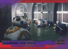 Star Wars Last Jedi S2 Purple Base Card #53 Clearing the Path