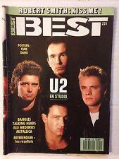 BEST N°225 1987 U2 EN STUDIO