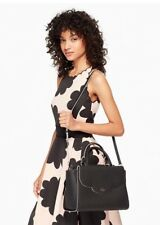 NWT Kate Spade Leewood Place Makayla Satchel,Crossbody Leather Black Retail $398