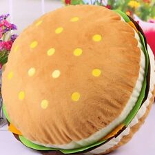 Cute Hamburger Plush Toys Pillow Plush Cushions Round Pillow Gift USA Seller