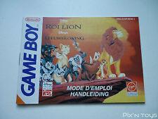 NINTENDO GAME BOY / Notice, Instructions / Le Roi Lion [ DMG-ALNP-NFAH-1 ]