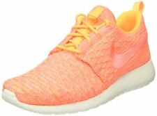 online store 9a526 ea794 Nike Women s Roshe One Flyknit Laser Orange Bright Mango Sail Running Shoe  9.