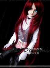 1 3 8-9 BJD Doll Wig Dal Pullip Obitus60 SD DZ DOD LUTS Doll Wine Red Haar