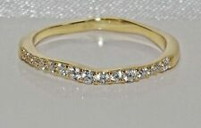 9ct Gold on Silver Simulated Diamond Fancy Eternity Ring ~ All Sizes