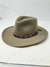 STETSON Brand Mens Santa Fe Crushable Wool Hat SMALL S sized BEAUTIFUL