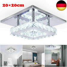 Luxus LED Decken Lampe Kristall Leuchte Wohn Zimmer Flur Beleuchtung Silber.