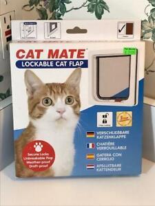Cat Mate Lockable Cat Flap Door White NIB