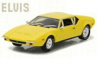 Greenlight 1:43 Elvis Presley 1971 DeTomaso Pantera Diecast Model Yellow 86502