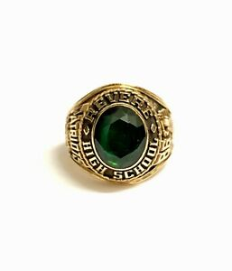 10k Yellow Gold Patriots 1986 High School Revere College Ring