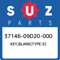 37146-09D20-000 Suzuki Key,blank(type:e) 3714609D20000, New Genuine OEM Part
