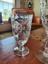 8 LENOX ETCHED CRYSTAL NAVARRE Water Glass MINT NEVER USED!