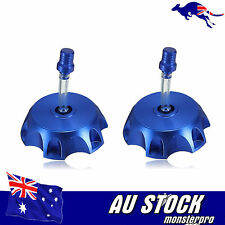 2x Blue Fuel Tank Covr Cap XR50 CRF50 TTR KLX110 Pit Dirt Trail Bike 50cc-160cc