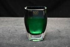 Green Angelica Vase, San Carlos Crystal Collection by Block