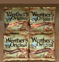 Werther's Original Creamy Caramel Filled 2.65oz Bags Werthers Candies ~ Lot of 4