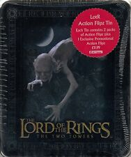 LORD OF THE RINGS THE TWO TOWERS 2003 COLLECTIBLE ACTION FLIPZ TIN & 2 PACKS UK