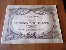 VETEMENTS BRODES EN LAINE album n. 11 Filatures de Saint-Epin inizi '900