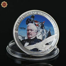 WR American President Series Millard Fillmore 99 Silver Coin Metal Medal Crafts