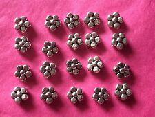 Tibetan Silver 5 Petal Flower Beads 20 per pack