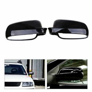 L&R Rear View Mirror Cover Cap Trim Glossy Black Fit VW Jetta Golf Mk4 1999-2007
