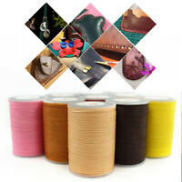 1Roll Stiching Cord 0.8mm 90m Flat Waxed Thread 150D Sewing Craft Cord Polyester