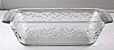 Princess House Fantasia Crystal Loaf Pan Ovenware Frosted Bottom 537 VTG