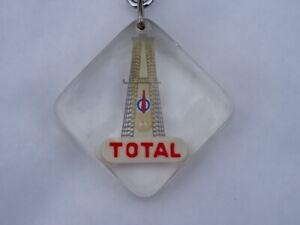 JOLI RARE ++ TOP ! PORTE-CLES BOURBON Key ring TOTAL DERRICK FORAGE drilling