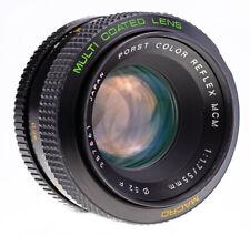 RARE Porst Color Reflex 55 mm f 1,7 Macro MCM M42 SN:387861 Kern Alpa Switar 760