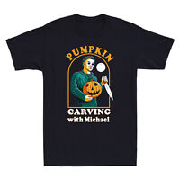 Pumpkin Carving With Michael T-Shirt Halloween Horror Movie Funny Men's Tee