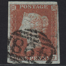 P10 GB QV 1841 1d RED-BROWN PLATE 110 SG8-B1(1) OJ FU MANCHESTER 498 4 MARGINS