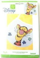 Janlynn Disney Tigger With Butterflies Bib Cross Stitch Kit Pooh Collection baby