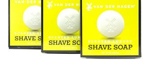 Van Der Hagen Scented Shave Soap - 3 Pack (3.5oz)