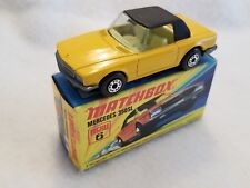**RARE** Vintage Matchbox Lesney #6 Mercedes 350SL / Yellow 1973 – MIB **RARE**