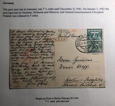 1940 Bergen Netherlands Postcard Censored Cover To Berlin Germany