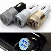 Universal Dual USB Bullet 2 Port Car Charger Adapter for Smart Mobile Cell Phone