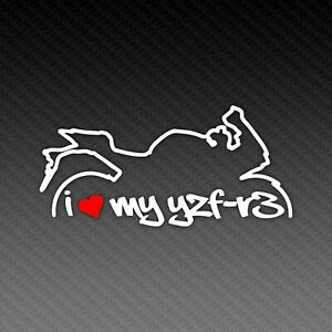 Yamaha YZF R3 Love Silhouette Motorrad Sport Bike Sticker Decal 15x9cm