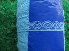 10 yards of Blue lace embroidery lace unilateral 2.5 cm