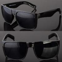 Retro Square Frame Sunglasses Mens Womens Large Flat Top Square Dark Lens
