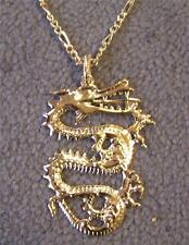 JUMBO GOLD DRAGON PENDANT CHAIN NECKLACE new mens women fantasy jewelry JL314