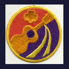 WORLD of ARTS 1974-79 Cad Sr Girl Scout Interest RARE Patch Badge NEW Violin