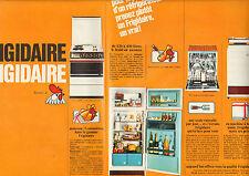 Publicité Advertising 1967 (Double page)  FRIGIDAIRE cuisinière lave vaisselle