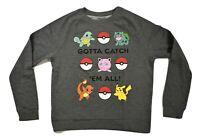 Pokemon Womens Gotta Catch 'Em All Sweatshirt Shirt New M, L, XL