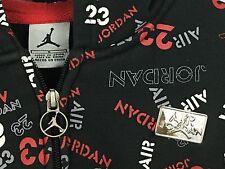 Kids Nike Air Jordan Zip-Up Hooded Monogram Sweatshirt Jacket Hoodie - Small