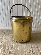 Vintage Large Brass Coal Bucket Planter Pot Patio Flower Tub Garden Display Pot