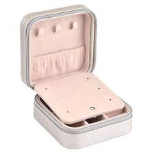 Travel Portable Jewellery Box Organizer Mirror Drawers Jewel Storage Case silver