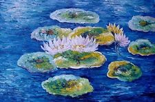 "Claude Monet  Repro  Oil Painting - Water Lilies Size:36""x24"""