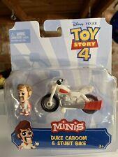 Disney Pixar Toy Story 4 Minis Duke Caboom And Stunt Bike. NIP NEW
