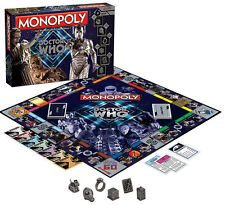 Doctor Who Collectors Villain Edition Monopoly Board Game Classic NEW MISB Set